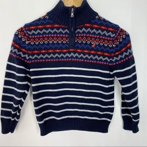 Nautica Striped Quarter Zip Sweater NWOT XL (7X)